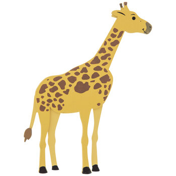 Giraffe Painted Wood Shape