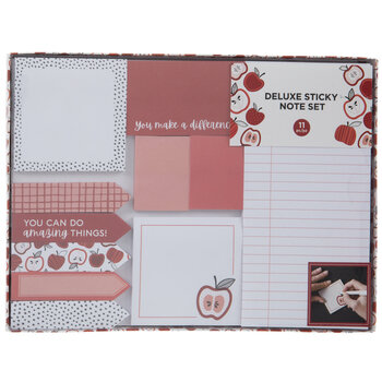 Red Apple Sticky Notes