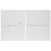 Sweet Dreams Canvas Wall Decor Set