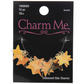 Iridescent Star Charms