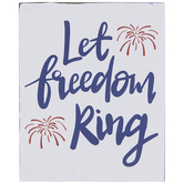 Let Freedom Ring Wood Decor