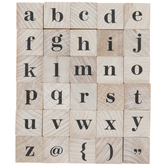 LowercaseSerif Alphabet Rubber Stamps