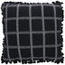 Black & White Stitched Grid Pillow