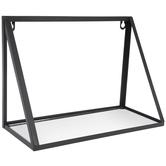 Black Modern Metal Wall Shelf