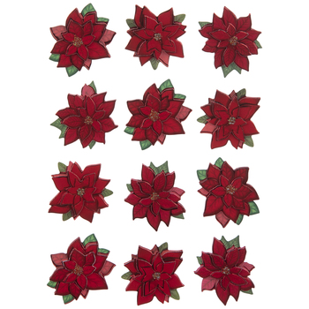 Poinsettia 3D Stickers