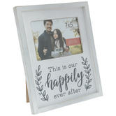 """Our Happily Ever After Wood Frame - 7"""" x 5"""""""