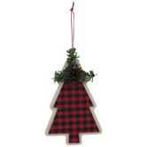 Red & Black Buffalo Check Tree Ornament