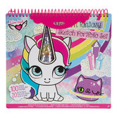 Unicorn Fantasy Sketch Sheets & Stickers