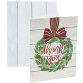 Wreath Thank You Cards