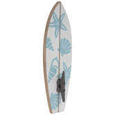 Shell Surfboard Wood Wall Hook