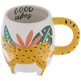 Good Vibes Jungle Cat Mug