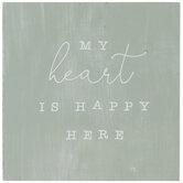 My Heart Is Happy Here Wood Decor