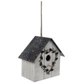 Ivy Heart Wood Birdhouse