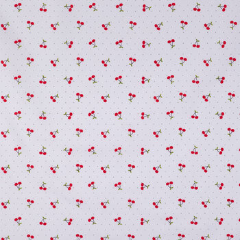 Cherries & Dots Cotton Calico Fabric