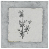 Black & White Flower Galvanized Metal Decor