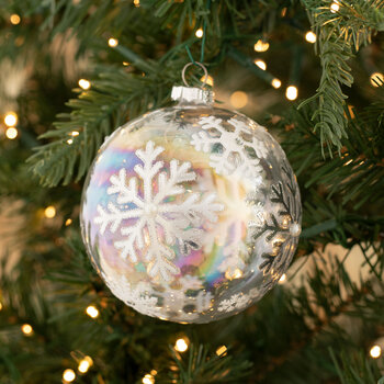 Iridescent Snowflakes Ball Ornament