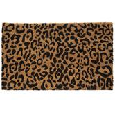 Cheetah Print Coir Doormat