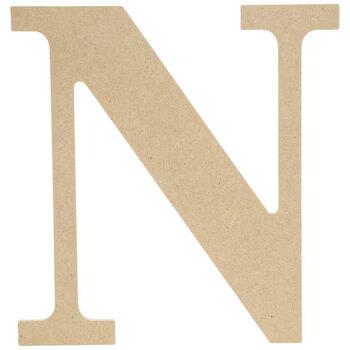 """Wood Letter N - 9 1/2"""""""