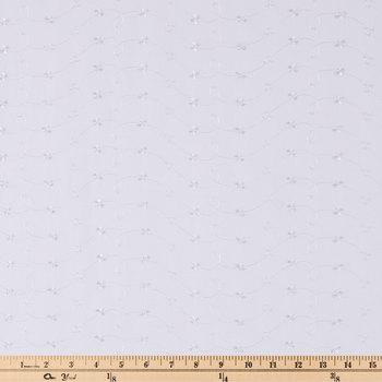 White Eyelet Border Batiste Fabric