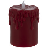 Thick Drip LED Pillar Candle