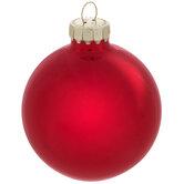 Red Shiny Ball Ornaments