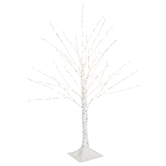 White Birch Pre-Lit Christmas Tree – 3'