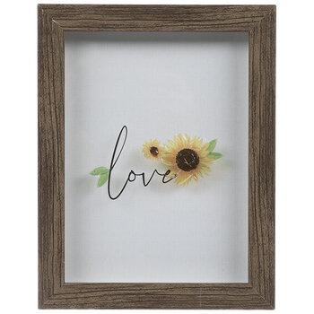 Love Sunflowers Framed Wall Decor