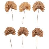 Brown Paper Palmetto Fan Embellishments