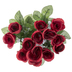 Burgundy Rose & Gypsophila Bush