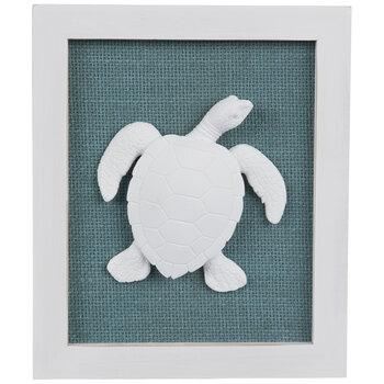 Turquoise & White Sea Turtle Wood Wall Decor