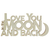 Moon & Back Wood Cutout