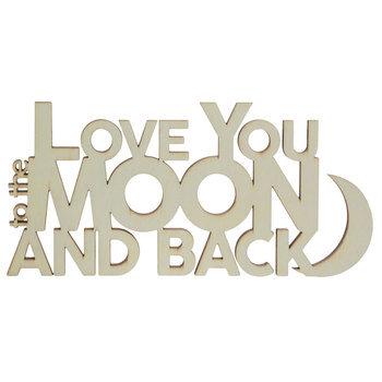 Moon & Back Wood Cutout