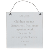 Children Are Not Distractions Wood Wall Decor