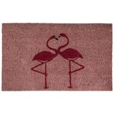 Pink Flamingo Doormat