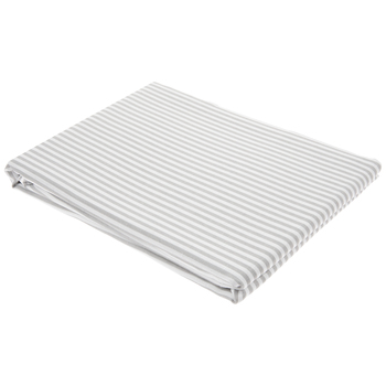 "White & Gray Striped Tablecloth - 60"" x 104"""