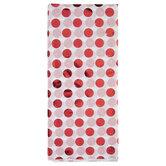 Red Foil Polka Dot Tissue Paper