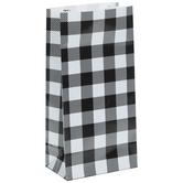 Black & White Buffalo Check Paper Gift Sacks