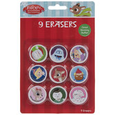 Rudolph The Red-Nosed Reindeer Erasers