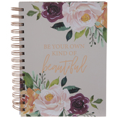 Pink Floral Own Kind Of Beautiful Spiral Notebook