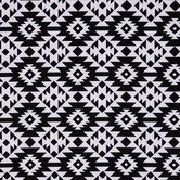 Black & White Tribal Duck Cloth Fabric