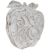 Whitewash Ornate Wood Look Apple