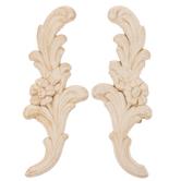 Floral Wood Appliques
