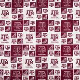 Texas A&M Block Collegiate Cotton Fabric