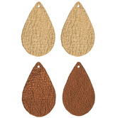 Teardrop Leather Earring Blanks