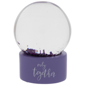 Purple Only Together Snow Globe