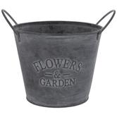 Flowers & Garden Metal Bucket