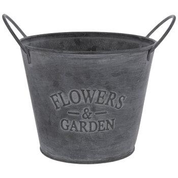 Flowers & Garden Metal Bucket - Large