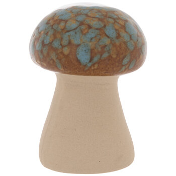 Turquoise & Brown Speckled Round Mushroom