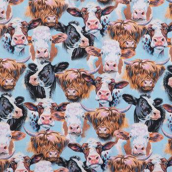 Cow Portraits Cotton Calico Fabric