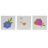 Flowers & Llamas Temporary Tattoos